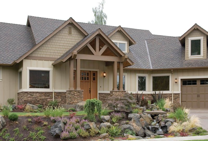 craftsman style homes exterior log and rustic home landscaping basics house plans and more dream homes decoration - Craftsman Ranch Home Exterior