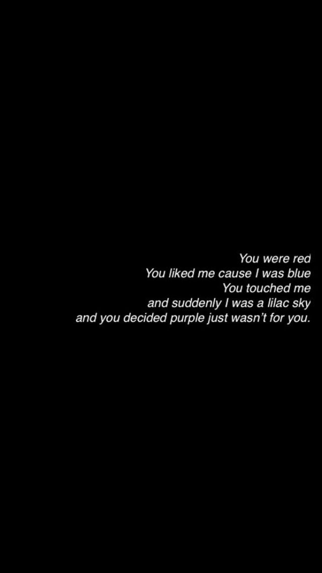 Lyric color purple lyrics : colors // halsey | Words | Pinterest | Halsey, Songs and Lyric quotes