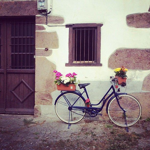 20 Maneras De Cómo Reciclar Las Ruedas De Tu Bicicleta: Jardineras Con Ruedas. As Que Opt Por Una Ideaa Mi Modo De