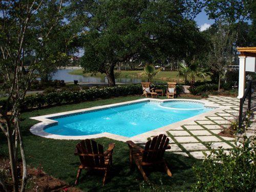 San Juan Fiberglass Pool - Roman Style Pool And Spa Combination