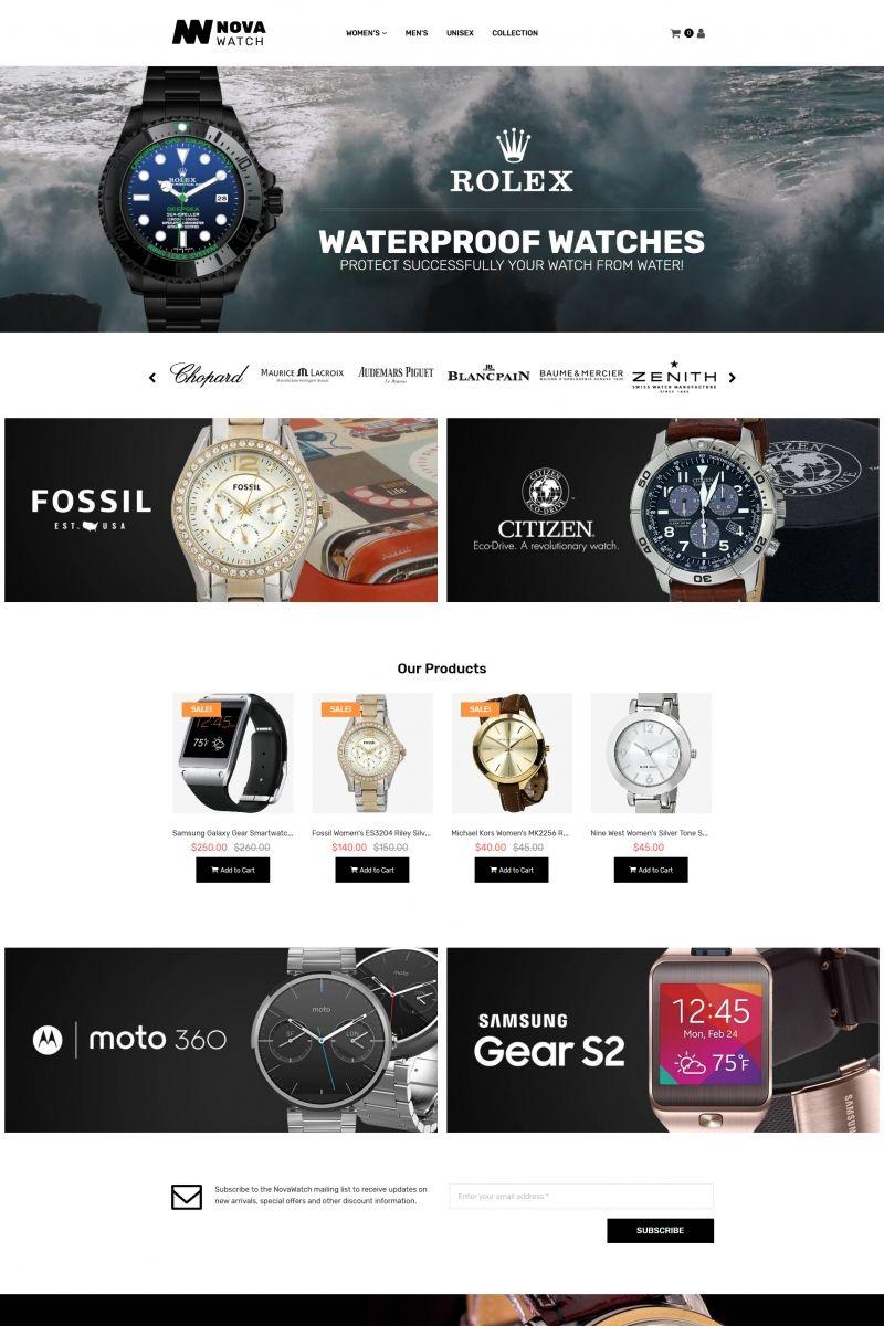 Nova Watch Watches Store Motocms Ecommerce Template 65585