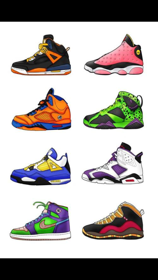 pretty nice fec11 a5c2e Dragon ball Z Jordans Goku 2, Dbz, Nike Tennis, Custom Sneakers, Dragon