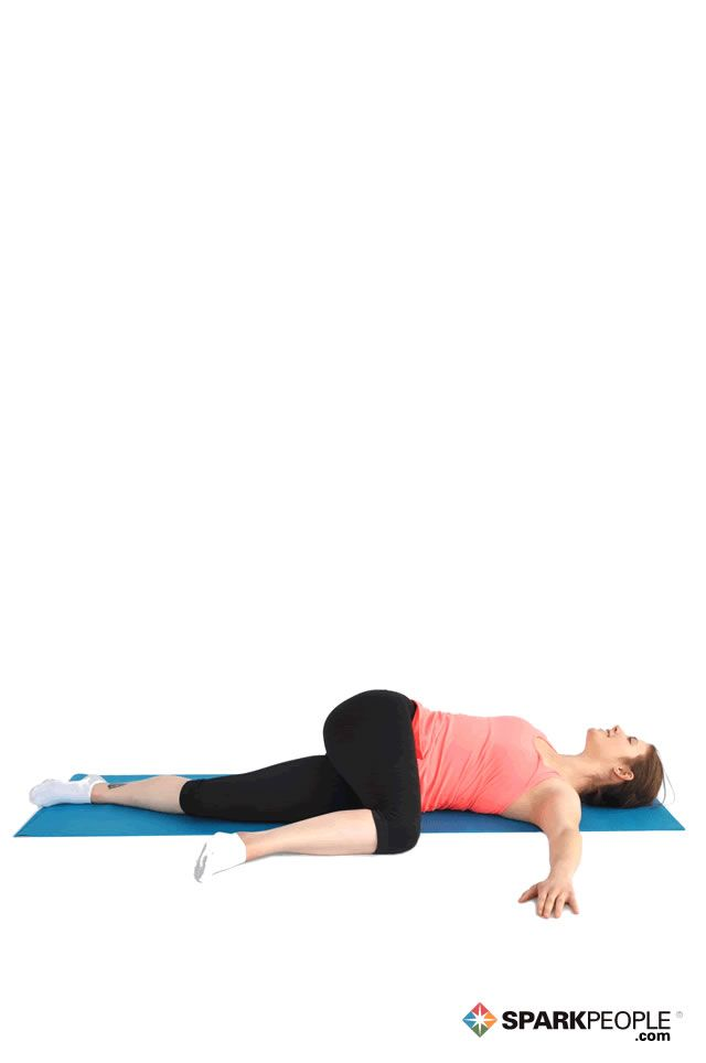 Lying Hip Glute Stretch Exercise Demonstration Exercise