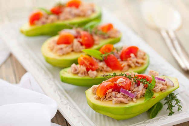 Tuna-stuffed avocados. | 14 Appetizers That You Can Make In 14 Minutes