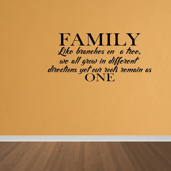 Wall Decal Family Tree Roots Branches Home Vinyl Wall Art Decal ...