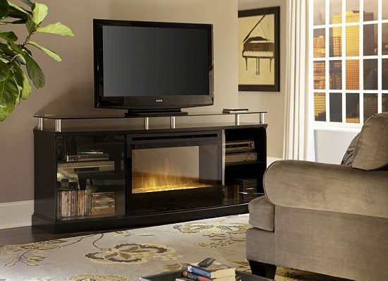 Living Room Ideas With Electric Fireplace And Tv living rooms, noir electric fireplace, living rooms | havertys