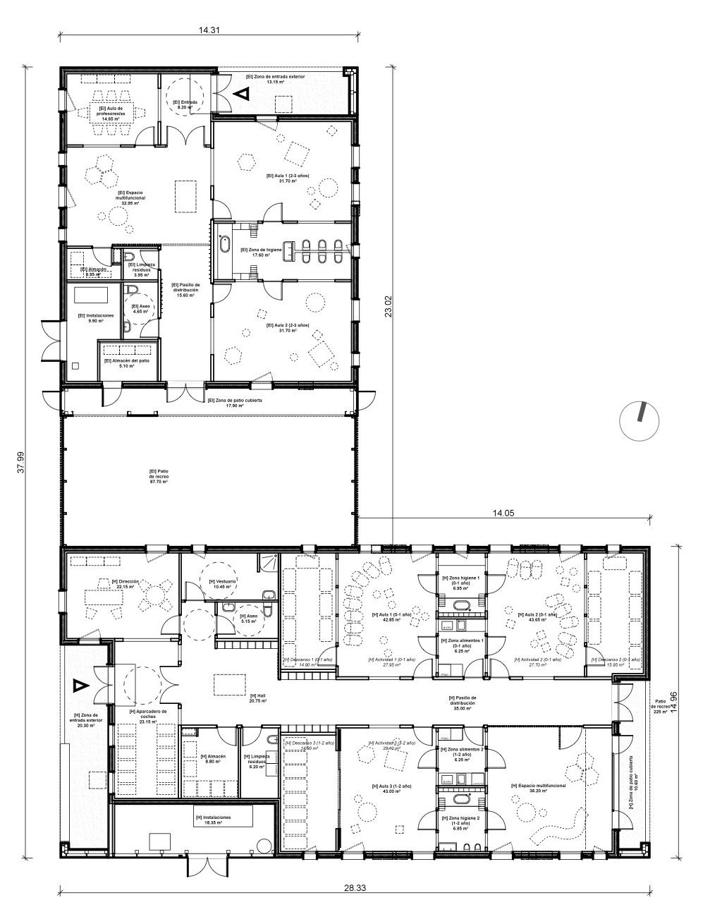 Gallery of new building for nursery and kindergarten in for New house structure design