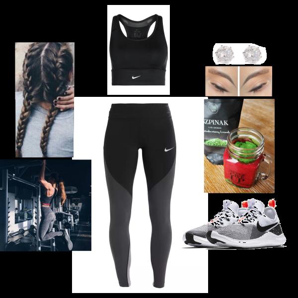626327b3f34d5 Wednesday Workout 02.05.2018 - Nike Performance SWOOSH POCKET BRA - Sports  bra Colour: black/black/white £35 - Nike Performance EPIC - Leggings £72 ...