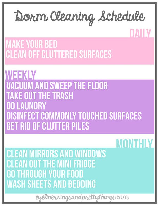 the ultimate guide to keeping your dorm room clean the