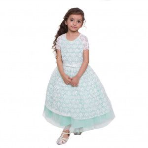 904445b014c Petite Adele Big Girls Mint Ivory Lace Leah Junior Bridesmaid Dress 8-12
