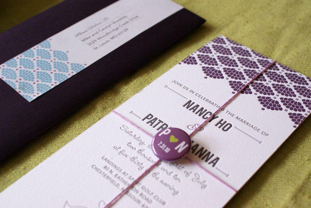Love Birds Wedding Invitation Set by fishcakedesign on Etsy, $100.00