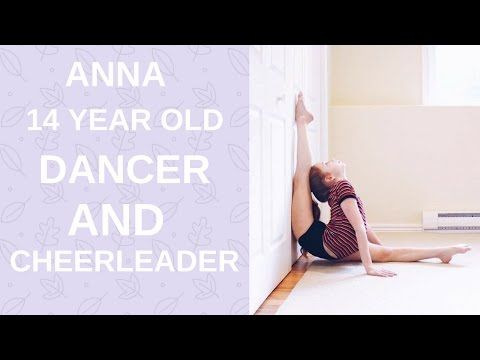 Anna amazing dancer and cheerleader (extremely flexible) - YouTube