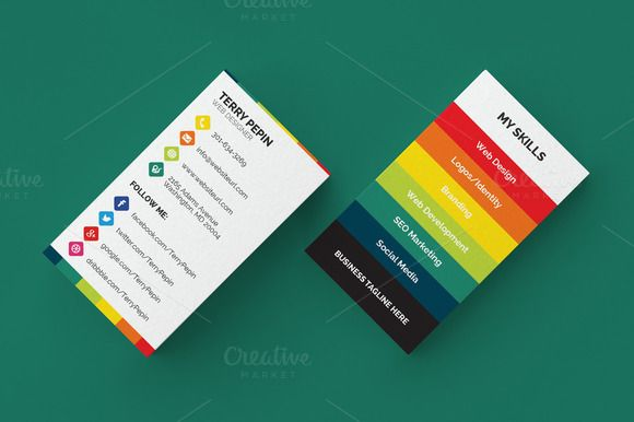 Pin by rasheeda price on brand design pinterest brand design and social media business card 61 templates a highly versatile business card template that is designed for both corporate business and personal by made by wajeb Image collections