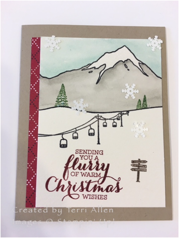 Mountain Christmas Cards.Ski Mountain Christmas By Terrial Cards And Paper Crafts