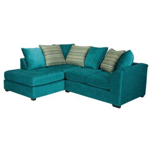 Buy Toronto Fabric Corner Sofa Left Hand Facing From Our Corner Sofas Range Tesco Com Teal Sofa Corner Sofa Right Hand