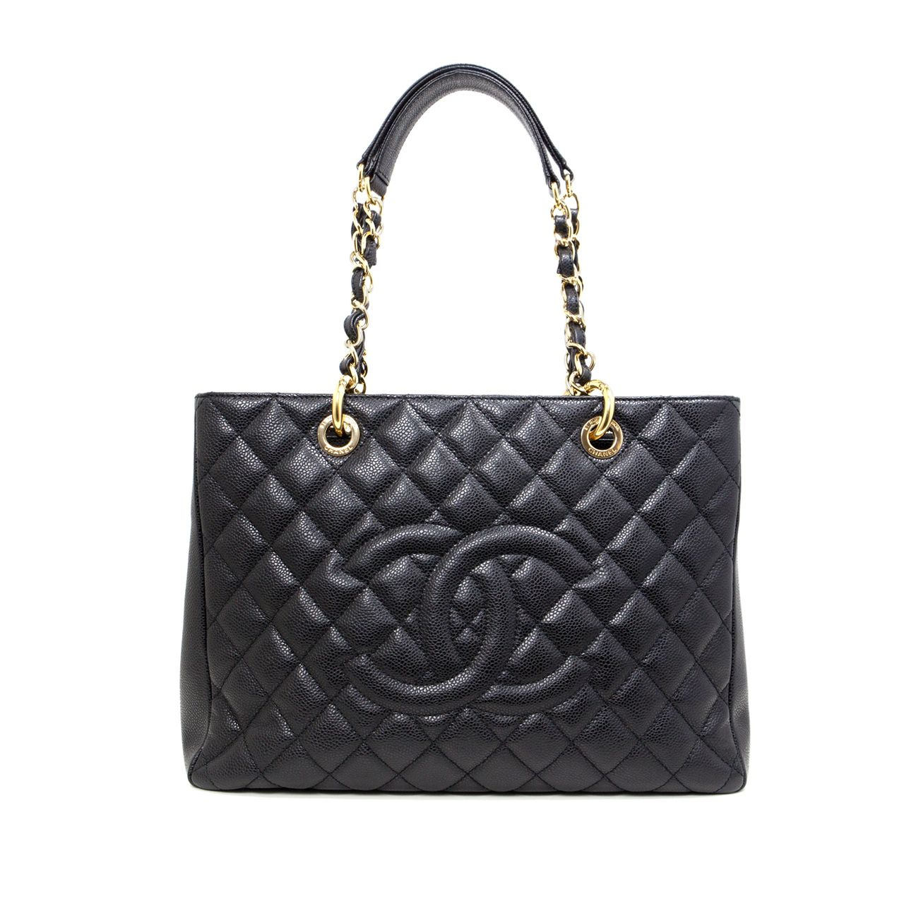 2cd8b4ff2778 Chanel Black Caviar GST Grand Shopping Tote - modaselle | Chanel ...