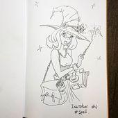 """Franck sur Instagram: """"Le thème du défi de dessin Inktober change tous les jours, aujourd'hui c'est #spell, tout de suite j'ai pensé à Harry Potter mais ça a ..."""