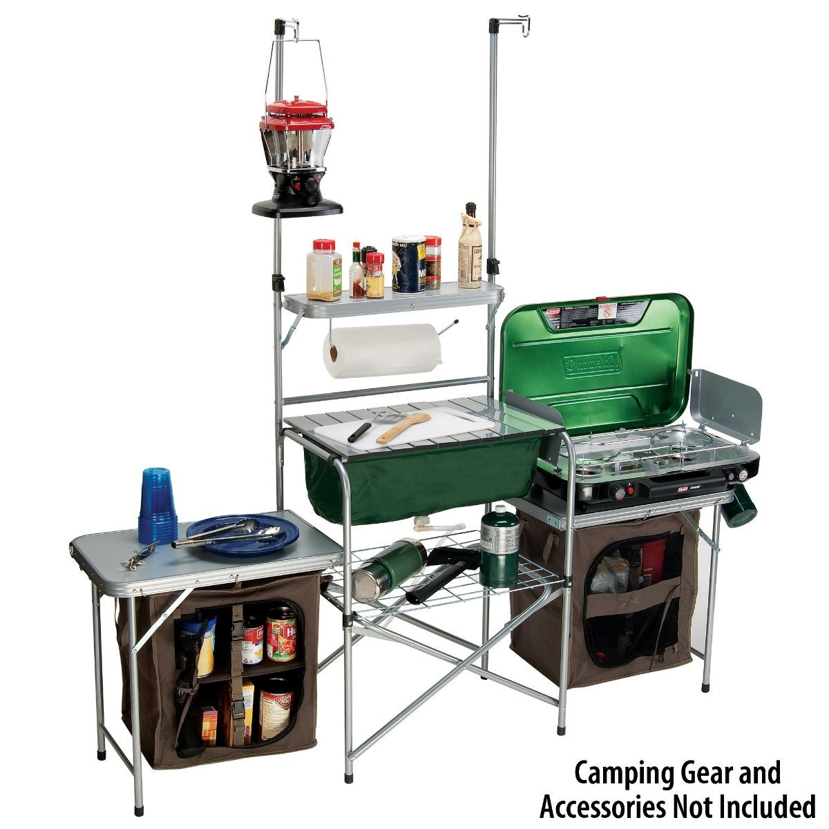 Gander Mountain Deluxe Camp Kitchen Camping Outdoor Cooking Food