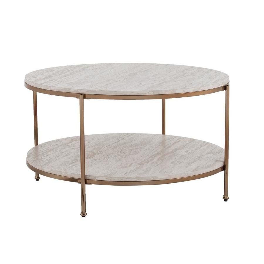 Boston Loft Furnishings Ashling Faux Travertine Faux Marble Coffee Table Lowes Com Coffee Table Stone Coffee Table Marble Coffee Table [ 900 x 900 Pixel ]