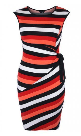 f4069bb1bde0 5 plus size striped dresses for Christmas that you will love