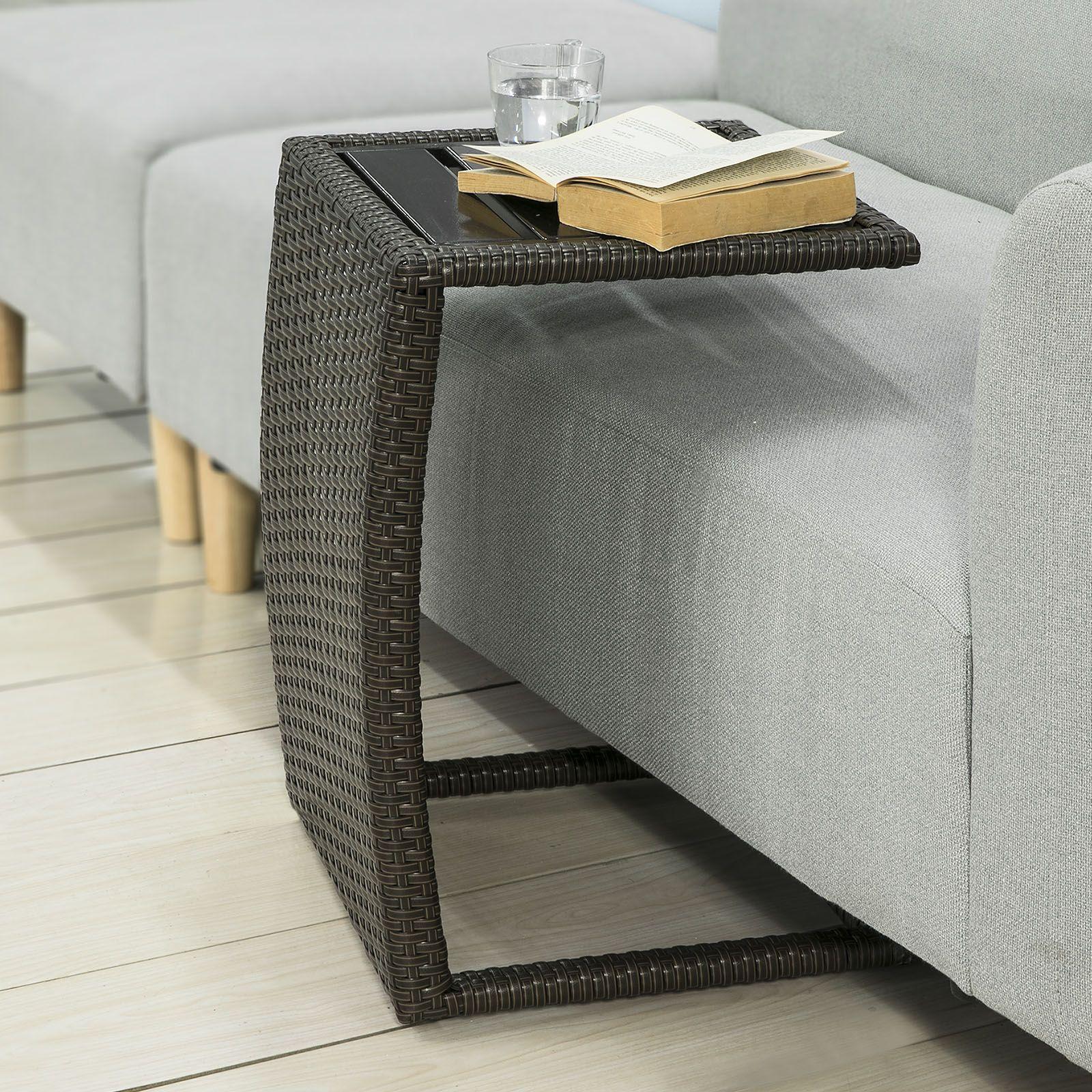 Tavolino Rattan Da Giardino.Questo Tavolino In Rattan E Inossidabile Metallo E L Ideale Per