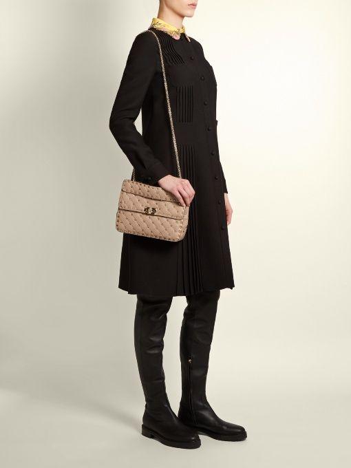 Valentino Rockstud Spike medium quilted-leather shoulder bag ... 32175ee95dfc6
