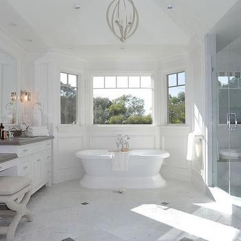 Bay Window Tub Transitional Bathroom With Images