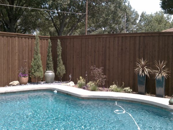 Pools Against Wooden Privacy Fence Google Search Pools