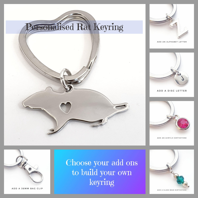 Whippet Keyring Gift//Present Dog Key Ring Bag Charm