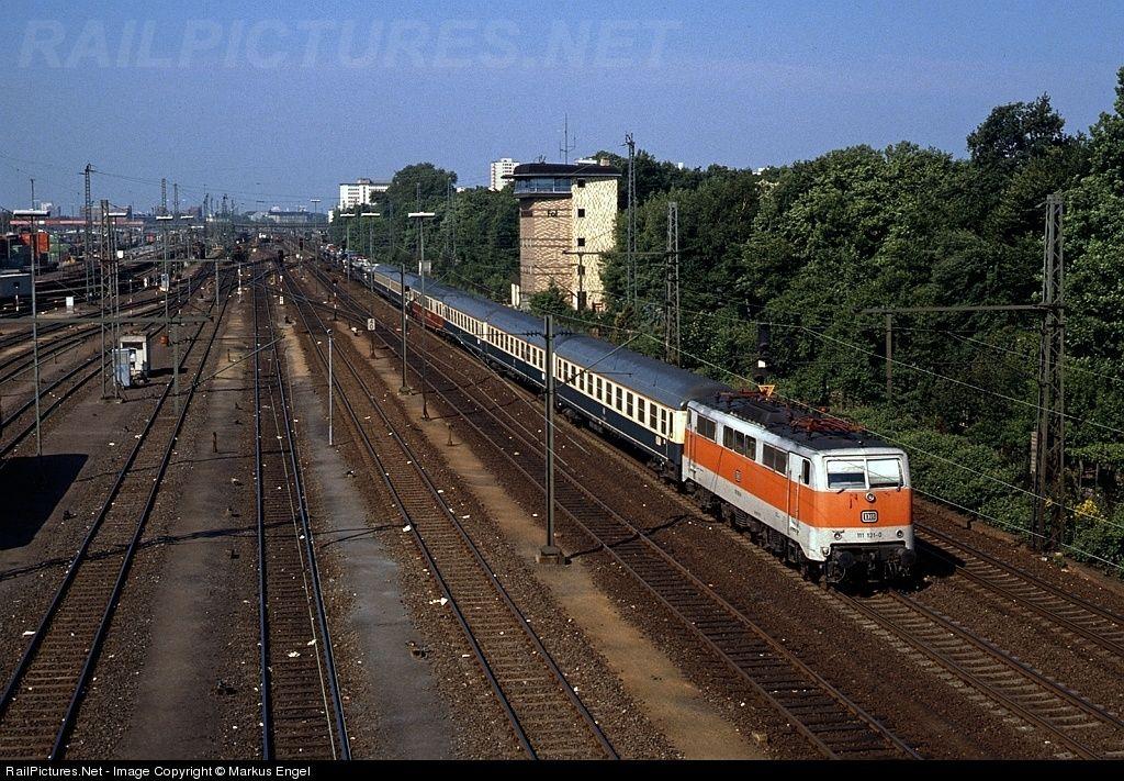 "111 121; Frankfurt Ost; May, 1987. ""ChristophorusExpress"