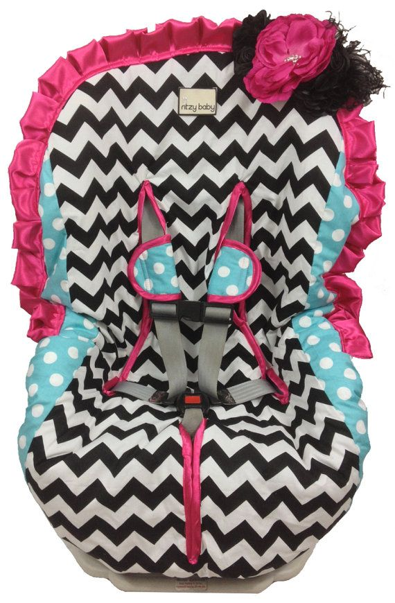 Toddler Car Seat Cover Girly Girl Padded Easy On Off Covers Choose Your Trim Color Etsy 9995
