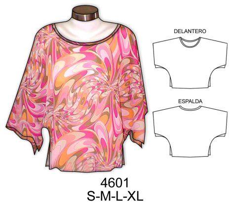 1e78e7999 Patrones para hacer blusas fáciles - Imagui