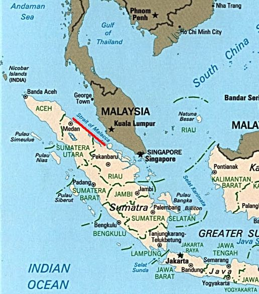 Here S A Picture Of Malacca On A Map Malacca Project Map String