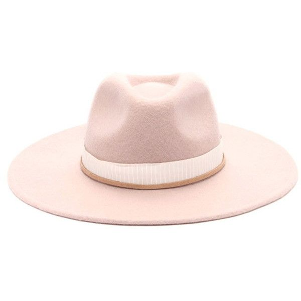 a7ed4743dc29d Forever 21 Women s Wide-Brim Fedora ( 25) ❤ liked on Polyvore featuring  accessories