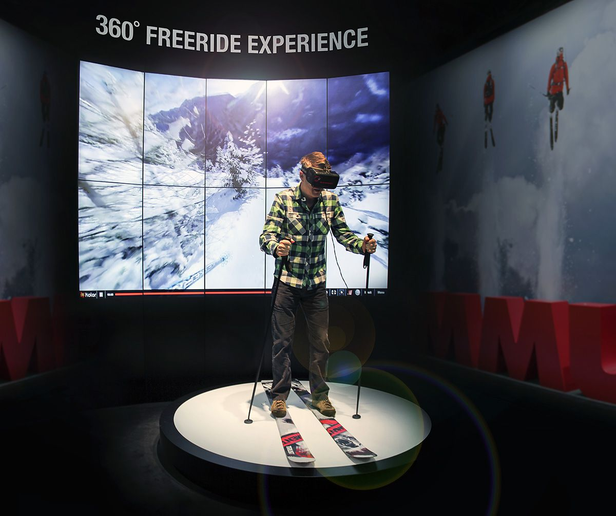 Virtual Exhibition Stand : Virtual reality freeskiing our ceo rolf schmid is giving