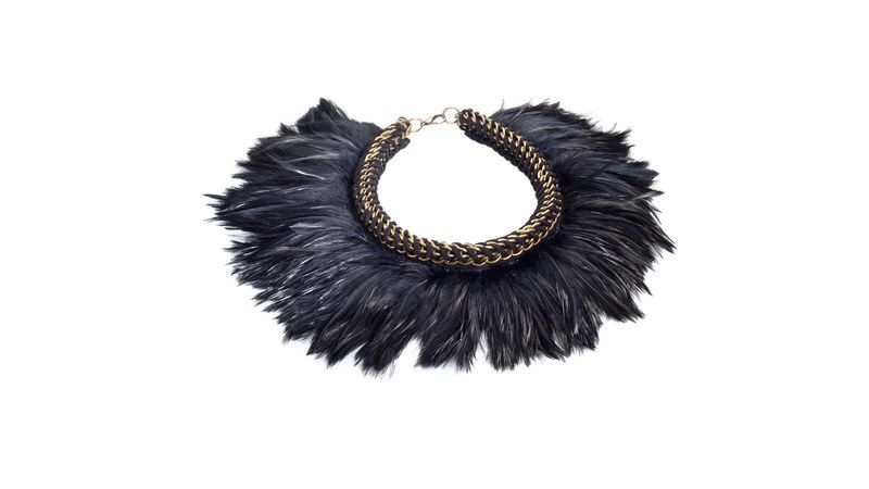 Black Feather Collar by Mamazoo | AhaLife