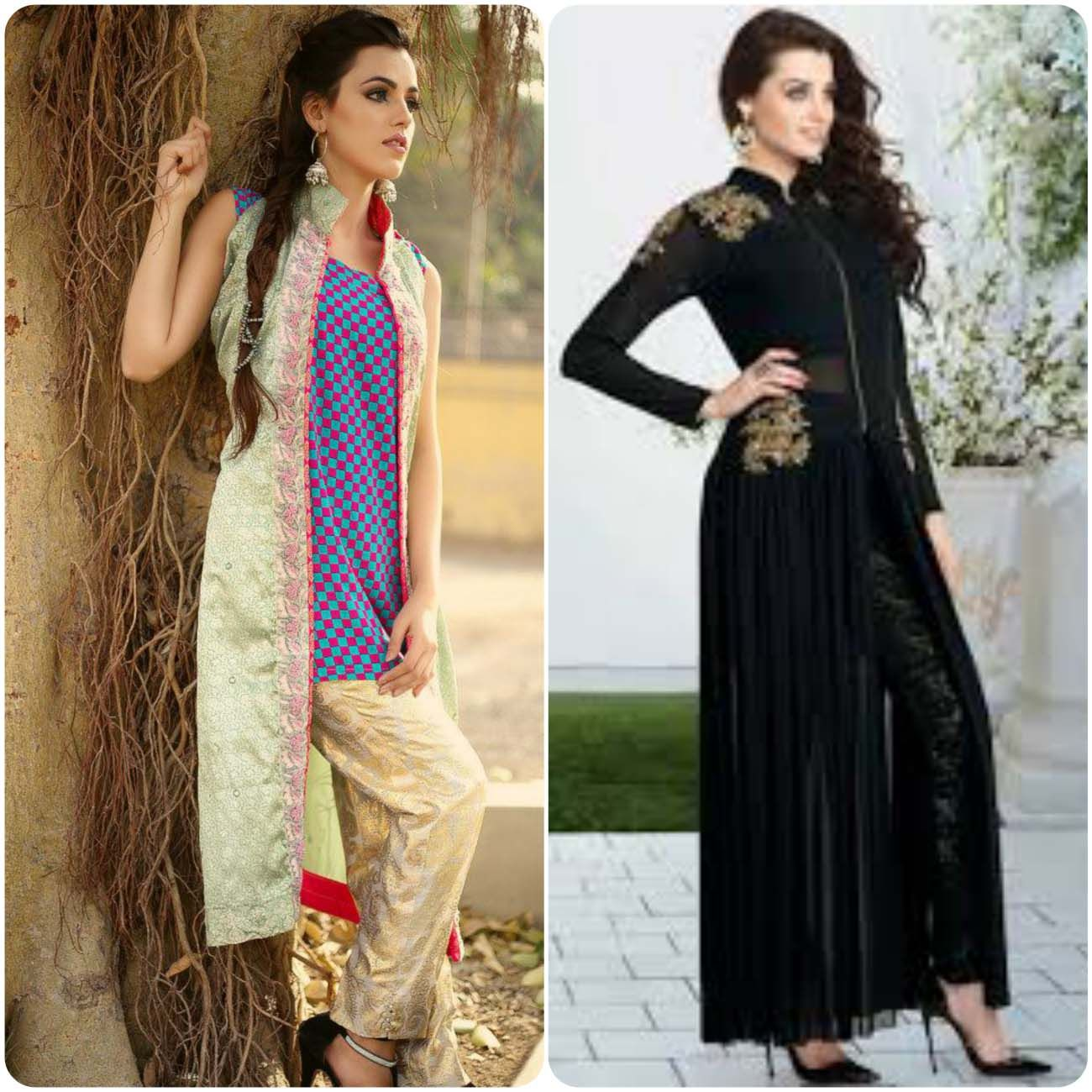 Double shirt dress design - Open Frocks And Double Shirt Dresses Collection 2016 2017 Styloplanet 12