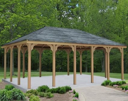 16 X 20 Cedar Rectangular Gazebo Gazebo Construction Rectangular Gazebo Patio Gazebo