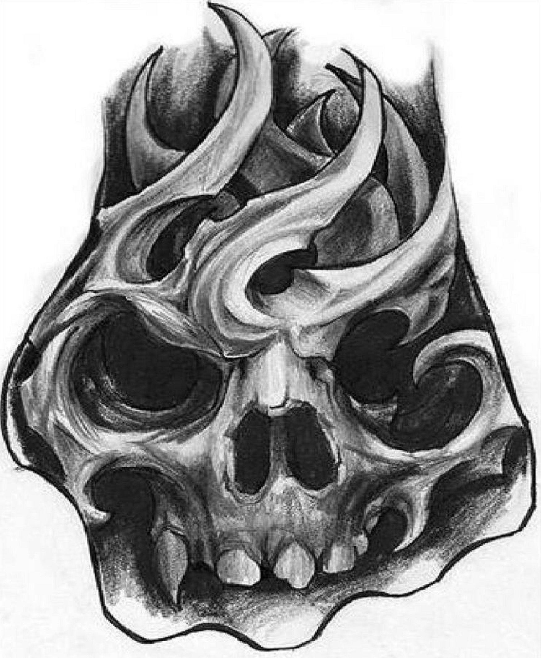 Skull Hand Tattoo Sketch. Skull hand tattoo