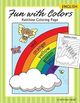 Colors Practice Rainbow Coloring Page English Color Worksheet