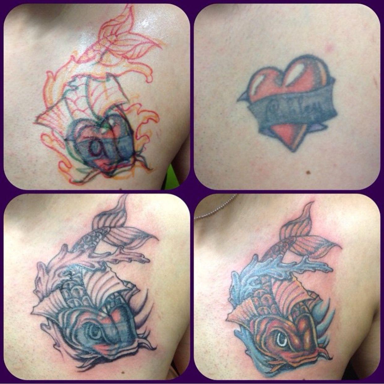 Koi fish cover up tattoo best tattoo shops tattoos