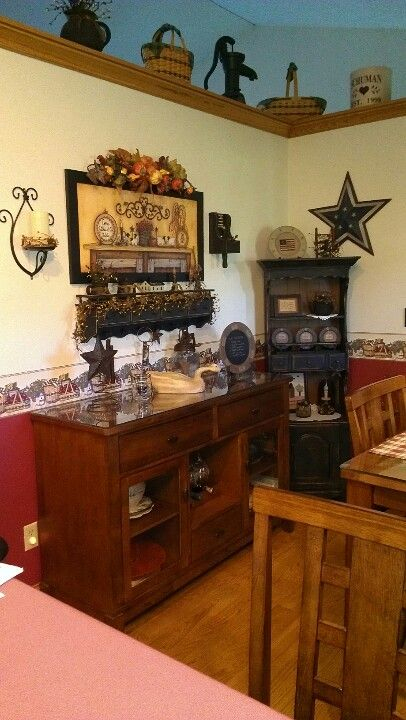 My Primitive Kitchen Primitive Dining Rooms Primitive