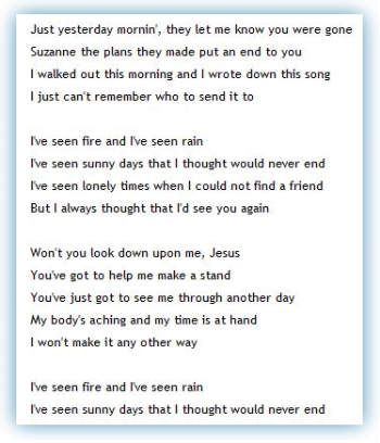 James Taylor Rine And Rain Best Song Ever James Taylor Lyrics