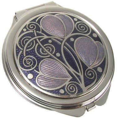 Brooch - Rennie Mackintosh Leaves & Coils Design - Purple & Silver ZS0yRdR