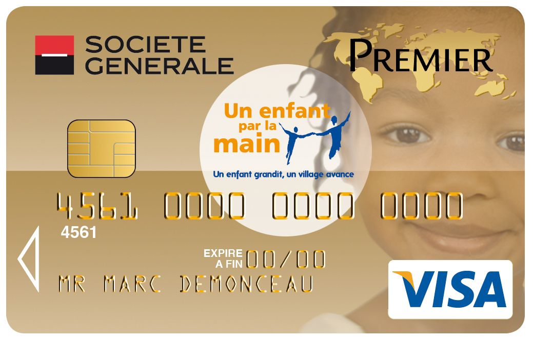 Carte Visa Premier Societe Generale Un Enfant Par La Main