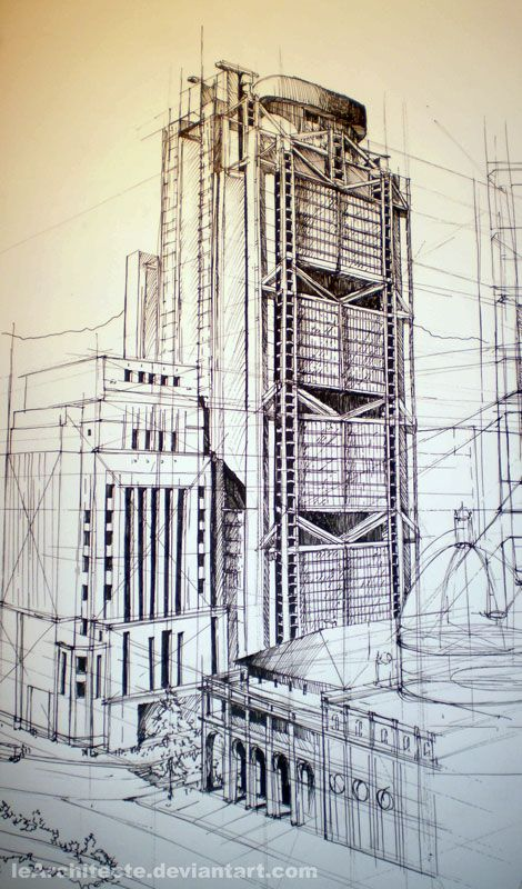 Architectural Drawings Of Skyscrapers skyscraperlearchitecte on deviantart | drawing | pinterest
