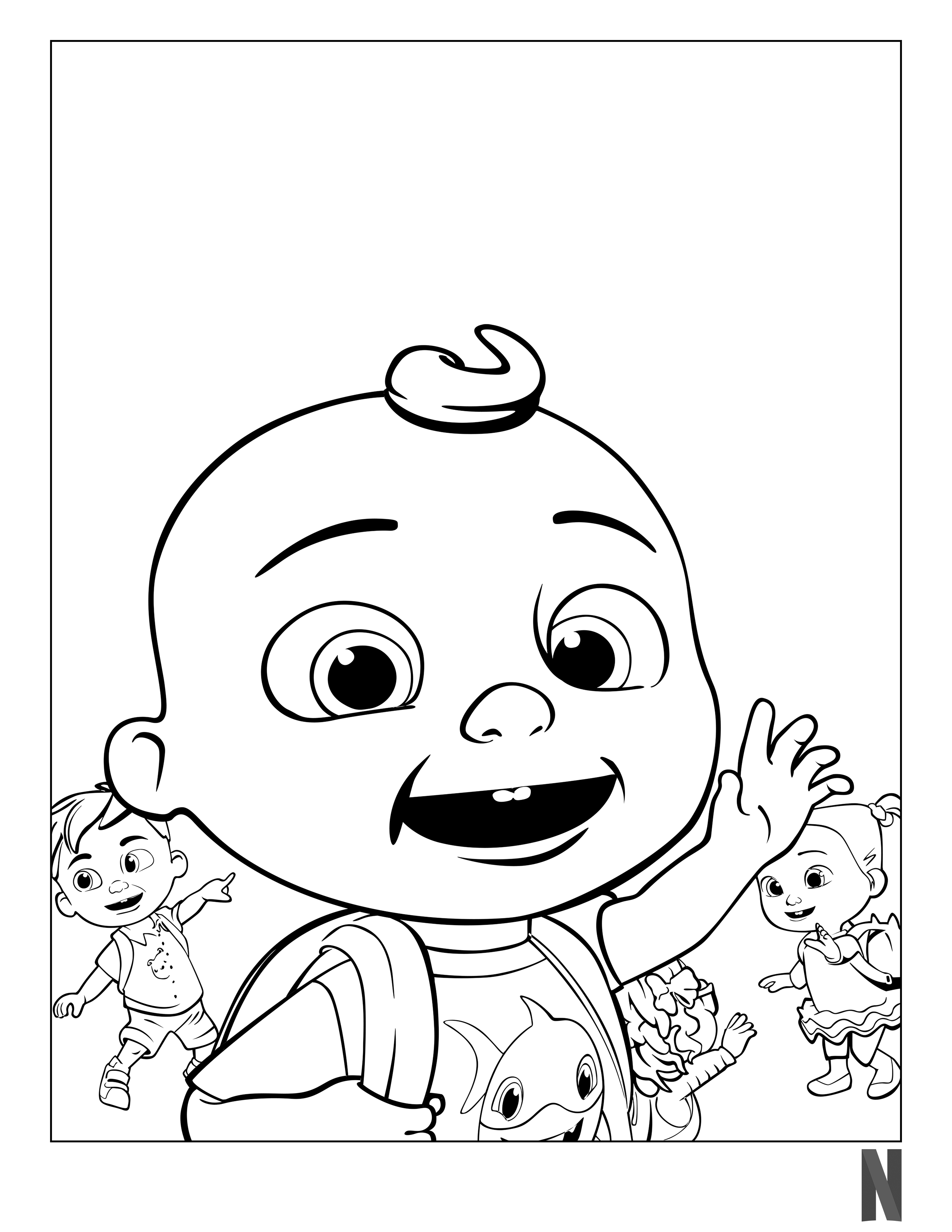 Cocomelon Coloring Page Coloring Pages My Little Pony Drawing Coloring Books [ 3300 x 2550 Pixel ]