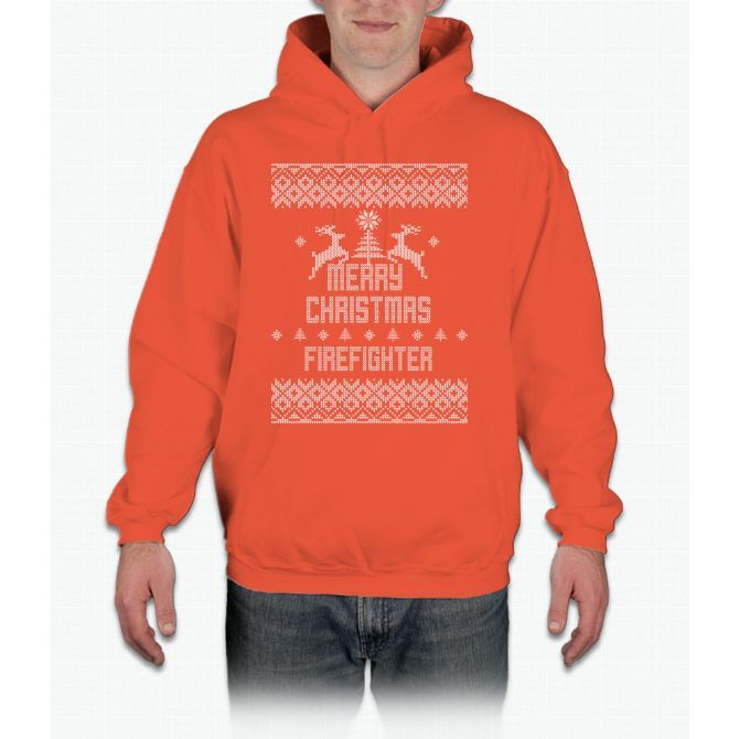 Merry Christmas Firefighter Hoodie