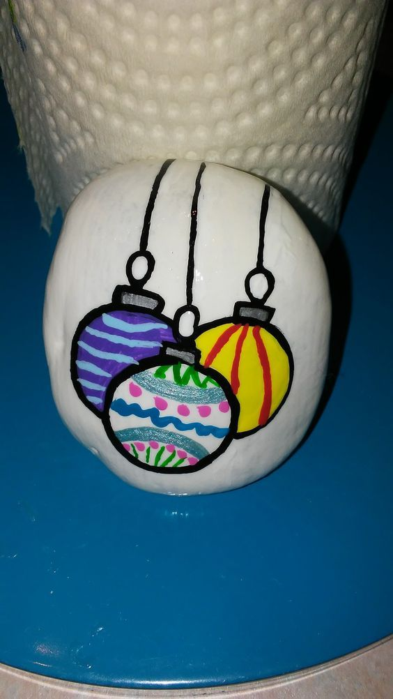 Easy and Fun Christmas Crafts for Toddlers – Painted Rocks #steinebemalenanleitung