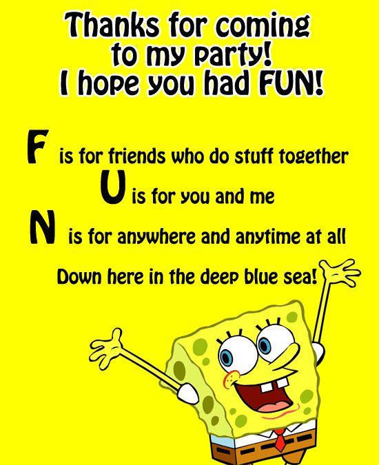 SpongeBob Birthday Party Ideas And A FREE Printable